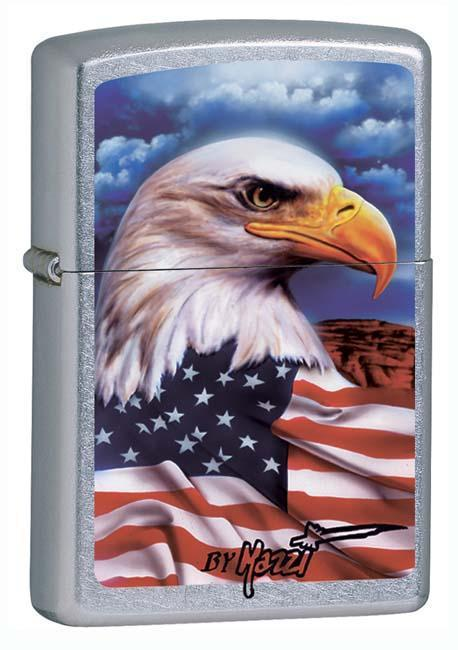 Zippo Lighter: American Eagle by Mazzi - Street Chrome 24764 - Gear Exec
