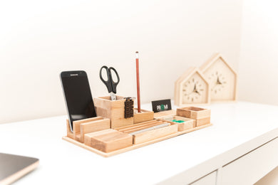 ALL IN ALL desk organizer Desk organizer set Pen holder Wooden desk organizer Office desk accessories