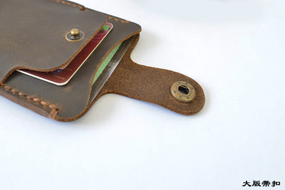 Genuine Leather Card Holder Minimalist Wallet