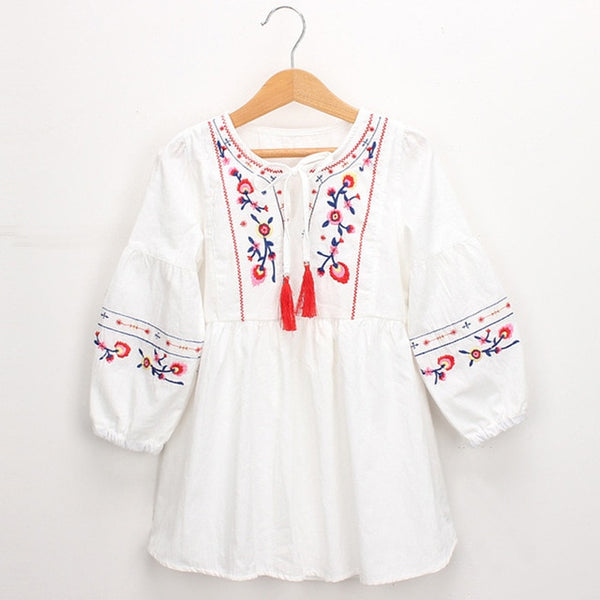 Boho Embroidery Dress