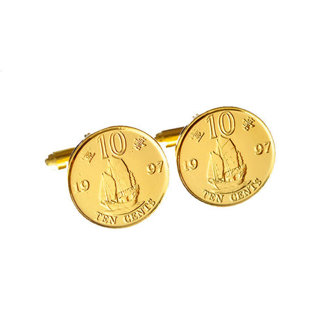 1997 Commemorative Ten cents coin cufflinks