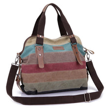 Load image into Gallery viewer, Casual Beach Bag Striped Shopping