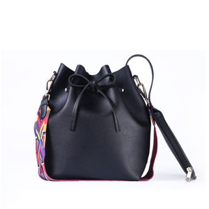 Women bag with Colorful Strap Bucket Bag