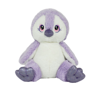 8 Inch Recordable Purple Penguin