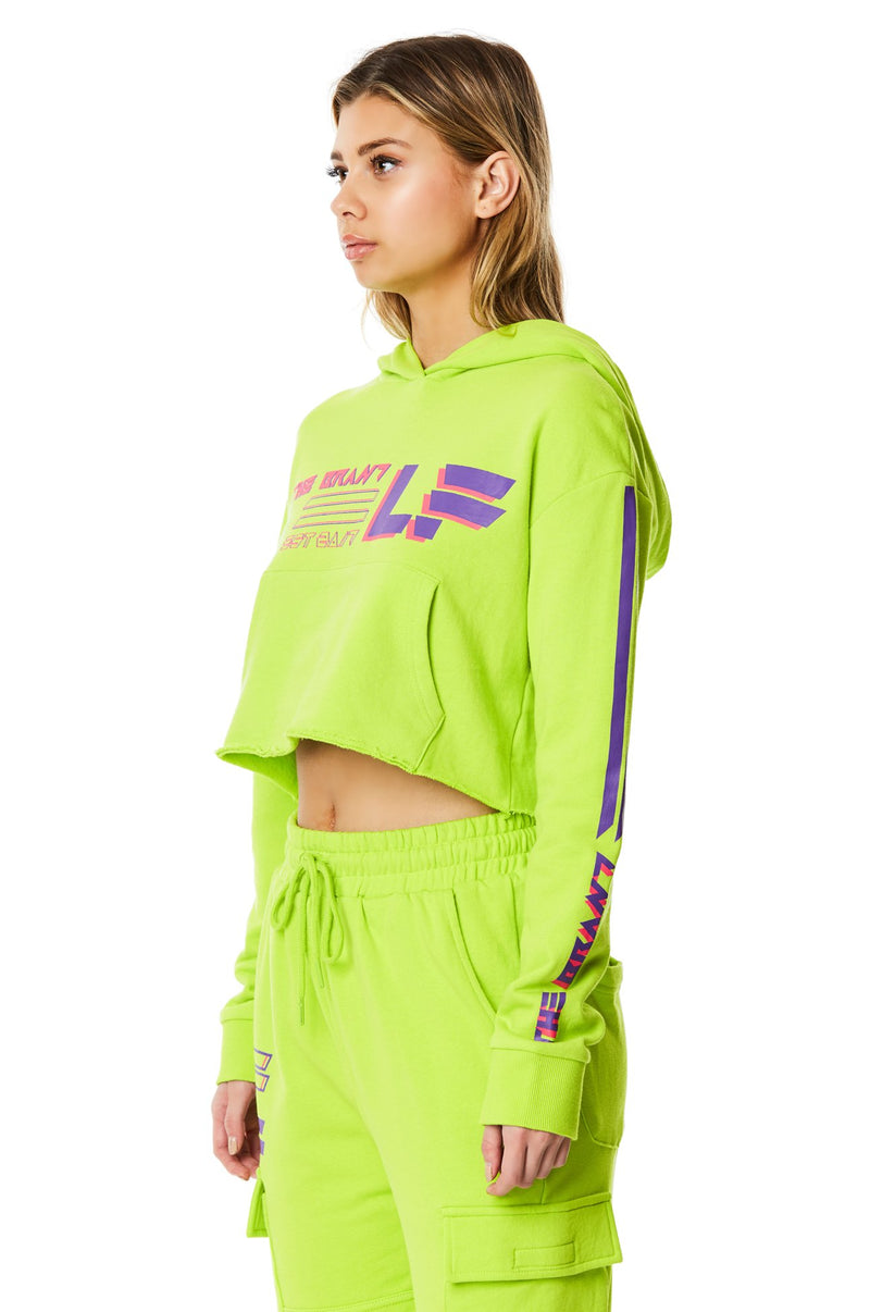 LF THE BRAND CROPPED PULLOVER HOODIE CROP ANGLE