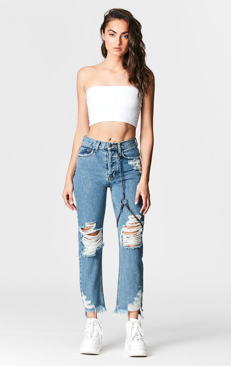 CARMAR DENIM MARZ EMELIA CHAIN HARNESS JEAN FULL FRONT