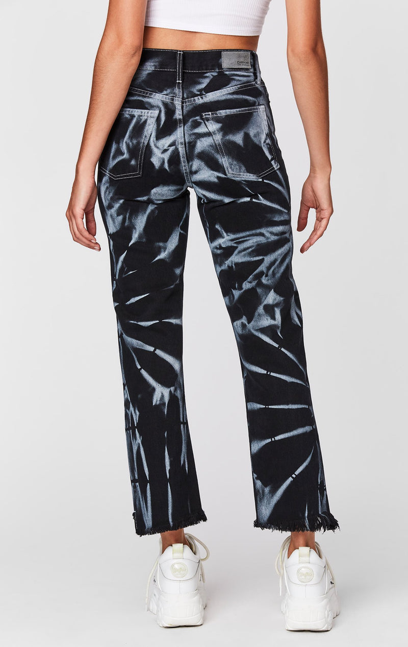 CARMAR DENIM TIE DYE EMELIA JEAN CROP BACK