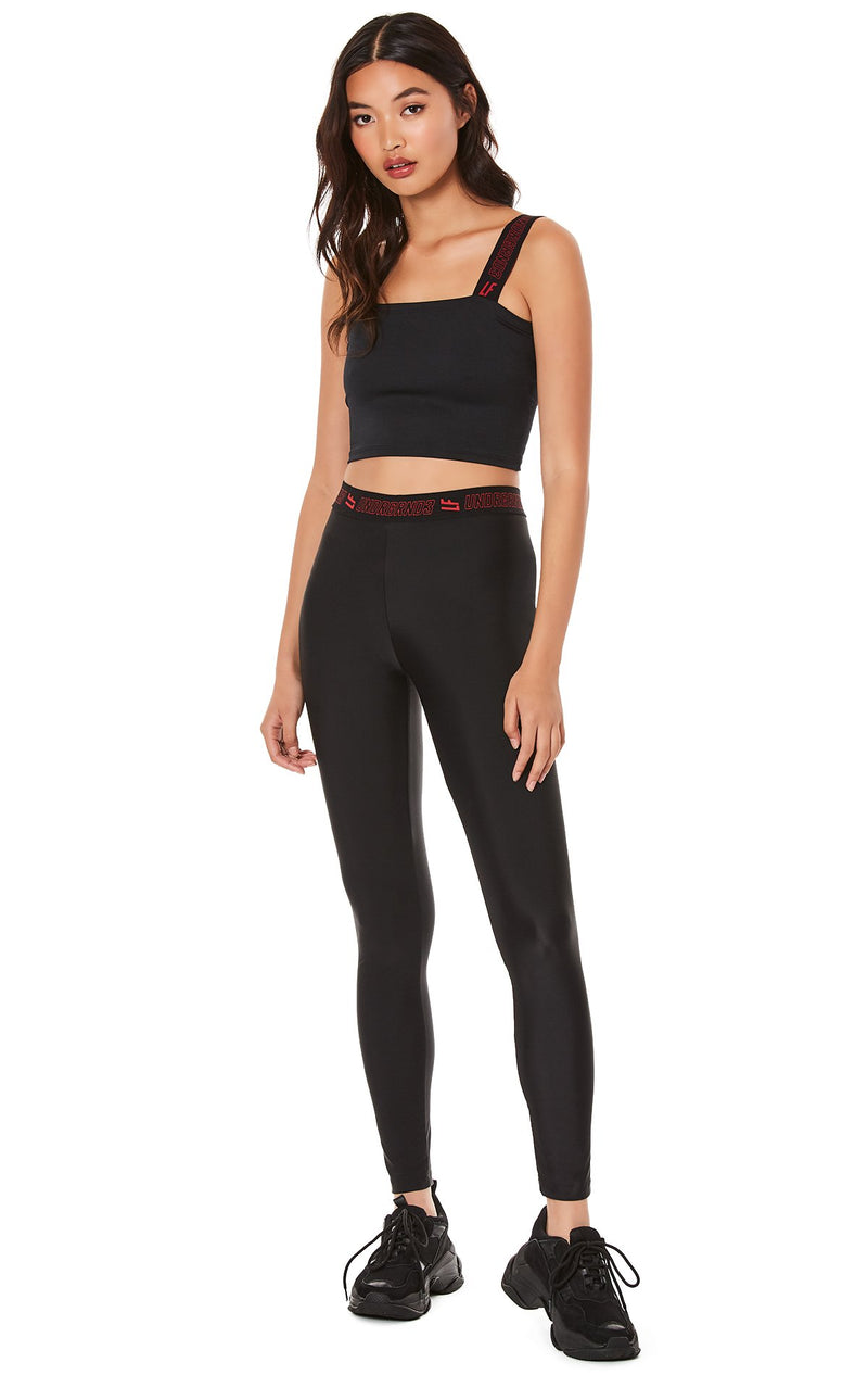 LEGGING WITH LF UNDRGRND3 WAISTBAND ATTITUDE SHOT