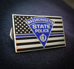 Massachusetts State Police Thin Blue Line Lapel Pin