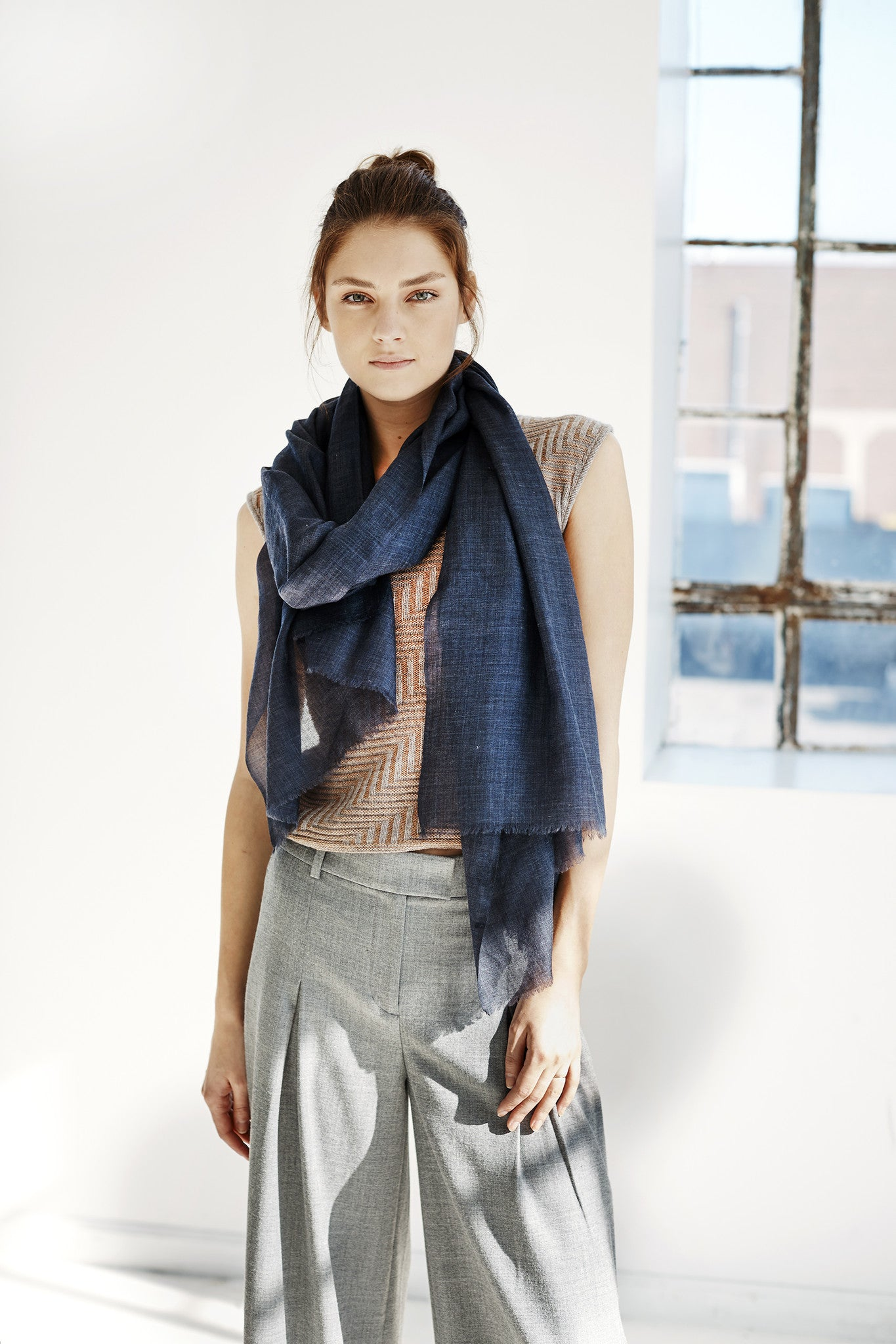 SKY Scarf - Steel Gray Heather