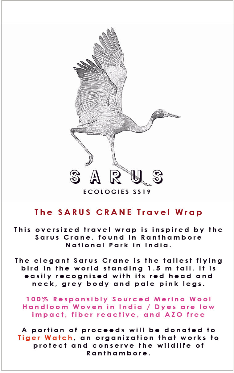SARUS CRANE Travel Wrap