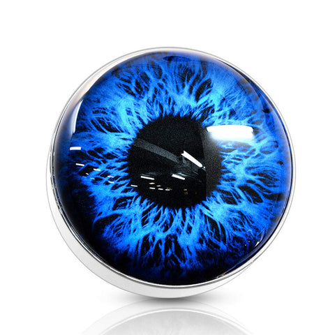 14G Eyeball 316L Surgical Steel Internally Threaded Dermal Anchor Top - FIFTHCUE.COM