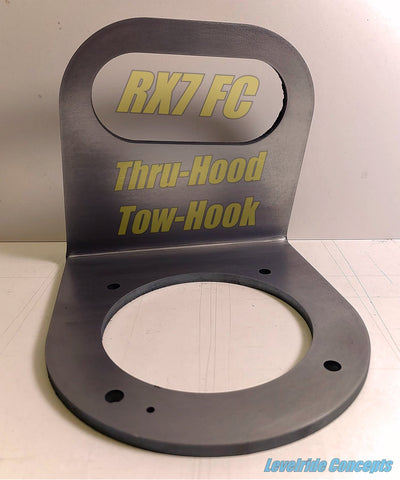 RX-7 FC Thru-Hood Tow-Hook kit - Street Weapons  - Locally engineered and crafted aftermarket items for Race, drift, and street cars apparel accessories supplies electronics