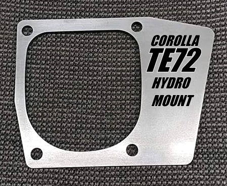 TE72 Corolla Hydro Mount Bracket Kit - Street Weapons  - Locally engineered and crafted aftermarket items for Race, drift, and street cars apparel accessories supplies electronics