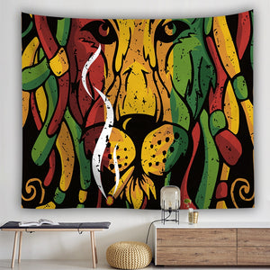 Molrain Tapestry Colorful Lion Dreadlocks - tapestryleps