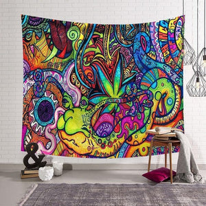 RUBYLOVE Tapestry Trippy Drawing - tapestryleps