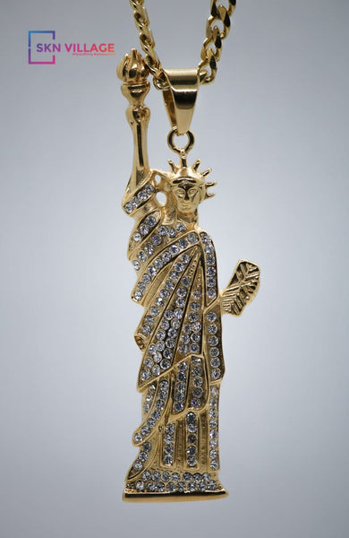 Gold Statue Of Liberty Pendant
