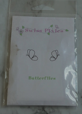 Butterflies Rubber Stamp, Swiss Pixies, C.C. Designs