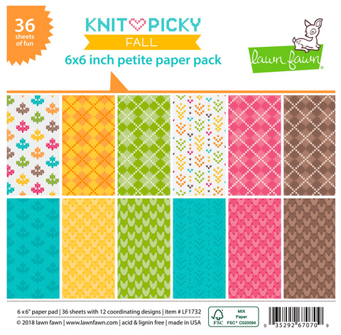 Knit Picky Fall Petite Paper Pack, Lawn Fawn