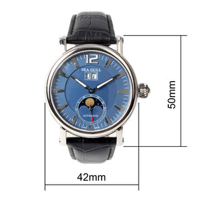 Seagull Moon Phase Crown Automatic Watch M308S - seagull-watches