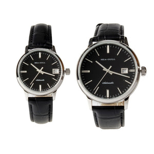 Seagull Black Dial Couples Watches Automatic  D101+D101L - seagull-watches