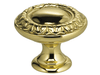 "1"" Diameter Omnia Ornate Border Cabinet Knob Pewter- Lacquered"