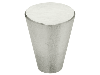 "15/16"" Diameter Omnia Tapered Cabinet Knob Satin Stainless Steel"