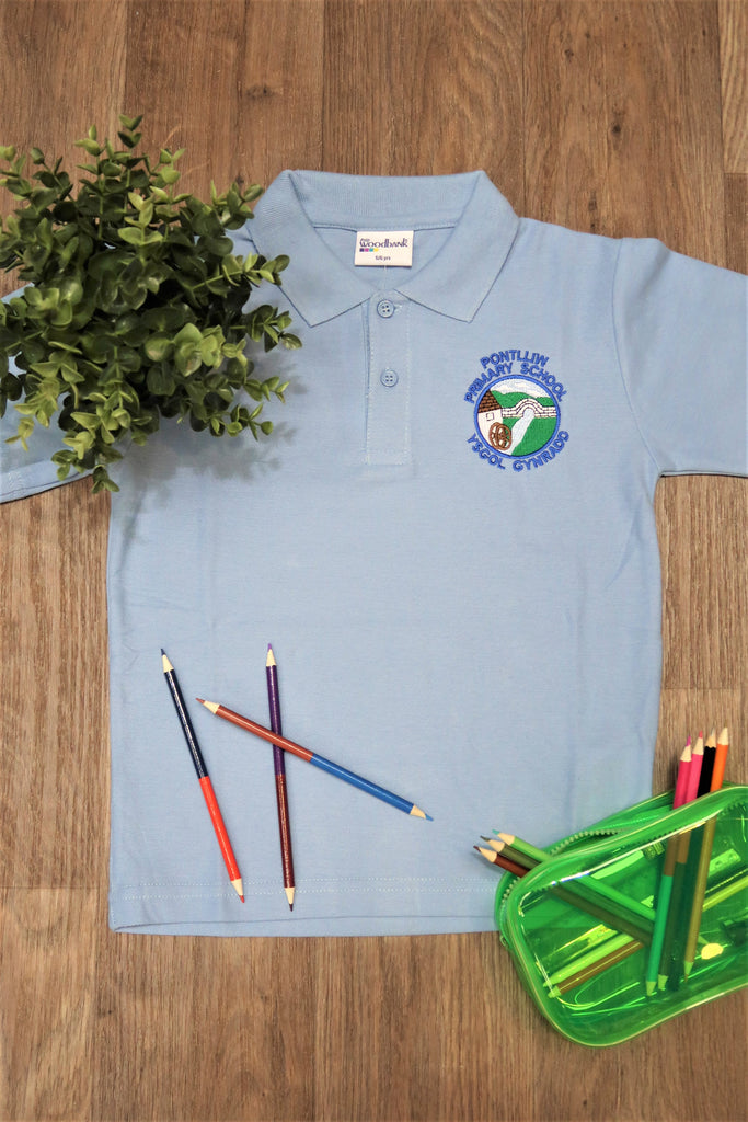 Pontlliw Primary Unisex Polo Shirt