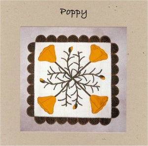 Poppy Wool Applique Pattern - Wall Hanging or Table Runner