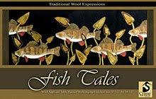 Fish Tales Wool Applique Pattern - Wall Hanging or Table Runner