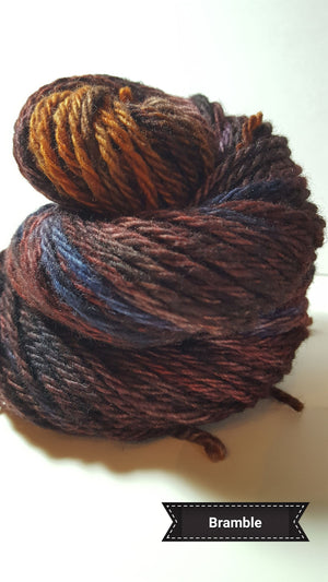 Bramble - Hand Dyed Aran/Worsted Yarn for Rug Hooking
