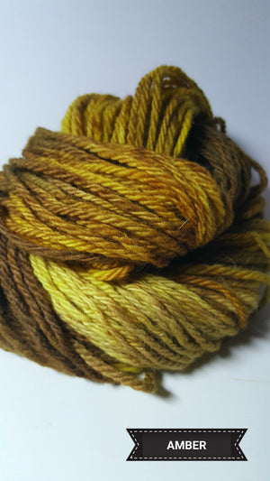 Amber - Hand Dyed Aran/Worsted Yarn for Rug Hooking