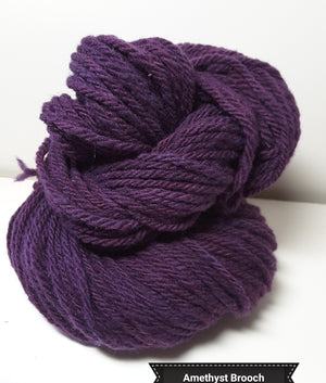Amethyst Brooch - Hand Dyed Aran/Worsted Yarn for Rug Hooking