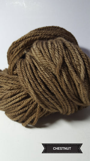 Chestnut - Hand Dyed Aran/Worsted Yarn for Rug Hooking