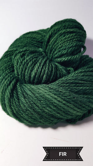 Fir - Hand Dyed Aran/Worsted Yarn for Rug Hooking