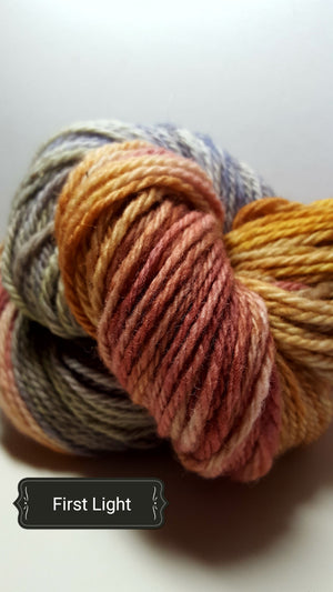First Light - Hand Dyed Aran/Worsted Yarn for Rug Hooking