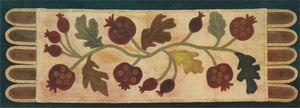 Antique Pomegranates #105 Wool Applique Pattern - Table Runner - Ginger Sanchez
