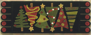 O Tannenbaum#110 Wool Applique Pattern - Table Runner - Ginger Sanchez