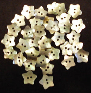 Mini Stars Shaped Buttons - Mother of Pearl