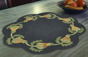 Primitive Pineapple Table Mat -  Wool Applique Pattern