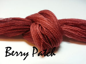 Berry Patch #019 - Wool Thread for Needle Punch and Wool Applique - Red Sand Fibre