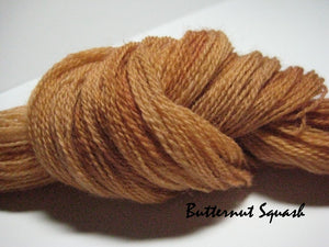 Butternut Squash #029 - Wool Thread for Needle Punch and Wool Applique - Red Sand Fibre