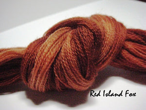 Island Red Fox #007 - Wool Thread for Needle Punch and Wool Applique - Red Sand Fibre