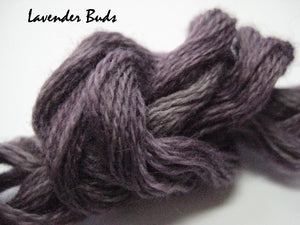 Lavender Buds #015 - Wool Thread for Needle Punch and Wool Applique - Red Sand Fibre