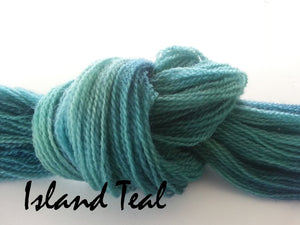 Island Teal #059 - Wool Thread for Needle Punch and Wool Applique - Red Sand Fibre