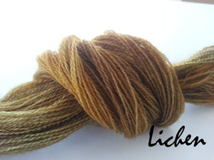 Lichen #061 - Wool Thread for Needle Punch and Wool Applique - Red Sand Fibre