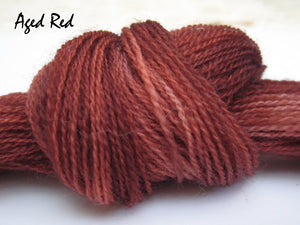 Faded Red #003 - Wool Thread for Needle Punch and Wool Applique - Red Sand Fibre