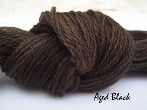 Aged Black #004 - Wool Thread for Needle Punch and Wool Applique - Red Sand Fibre