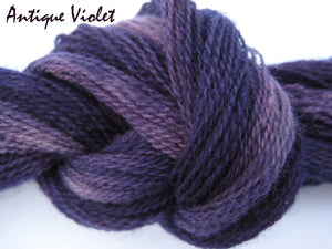 Antique Violet #049 - Wool Thread for Needle Punch and Wool Applique - Red Sand Fibre