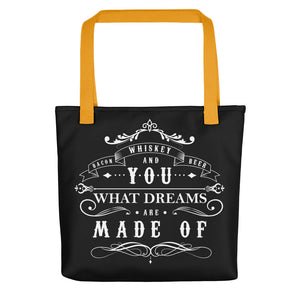 Bacon Whiskey Beer Tote Bag